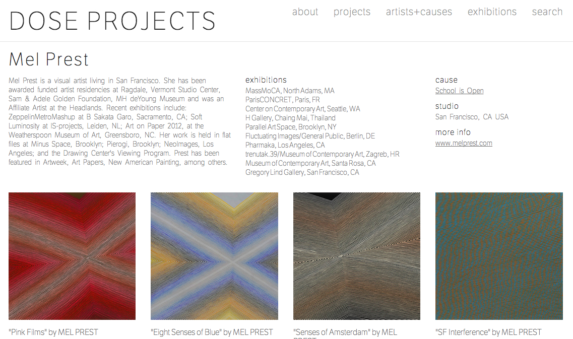 Works available at DOSE projects (Brooklyn, NY/ online)