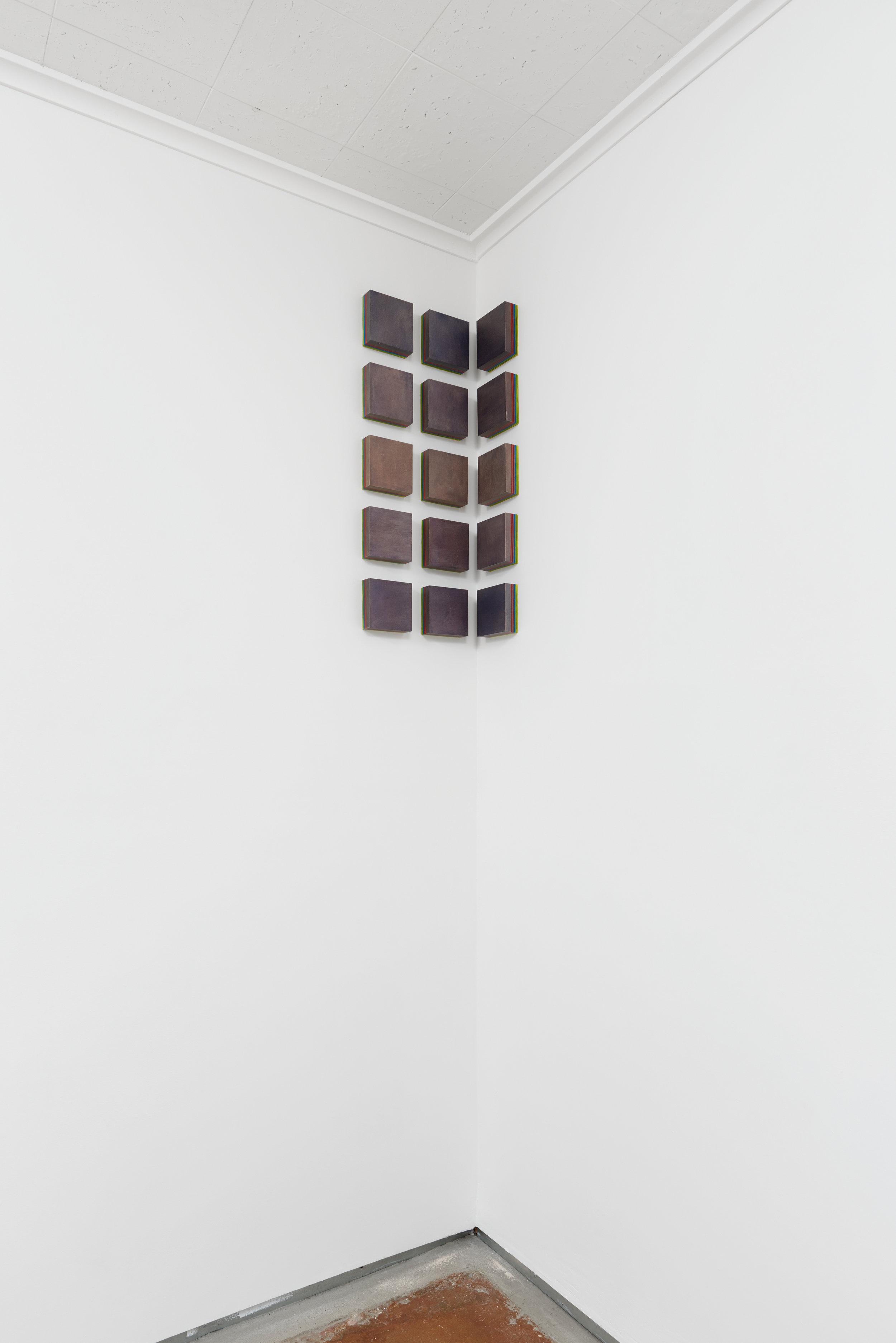 Installation view: COLOR CHANT, Solo show at Chandra Cerrito Contemporary, 2015.