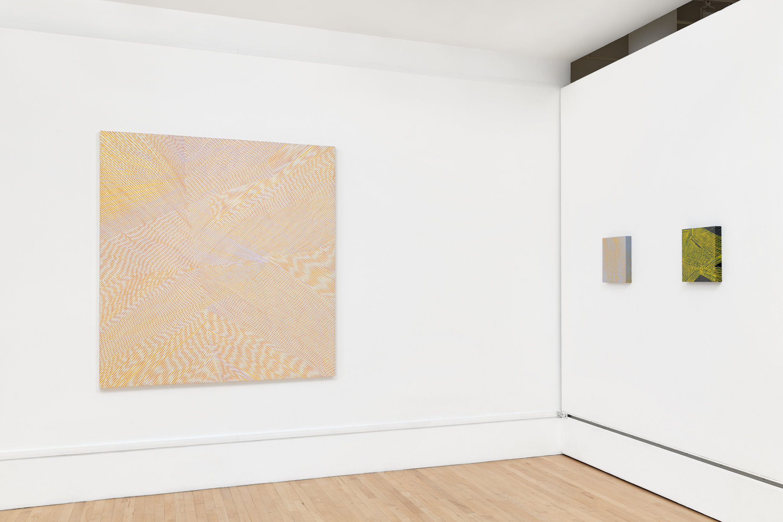 Installation view: About Abstraction: group show with 17 Bay Area Women Artists, The Bedford Gallery, 2017.