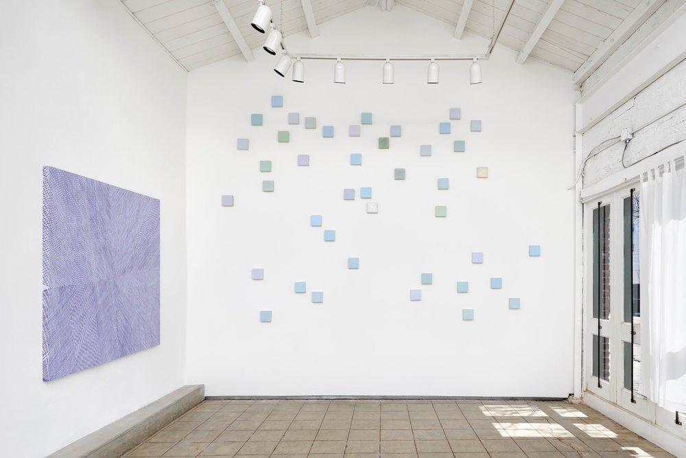 Installation view, Lilac Aura, solo show at Chandra Cerrito Contemporary, 2017