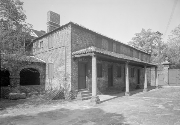 Miles Brewton House, Kitchen, 27 King Street, Charleston, SC. Library of Congress.