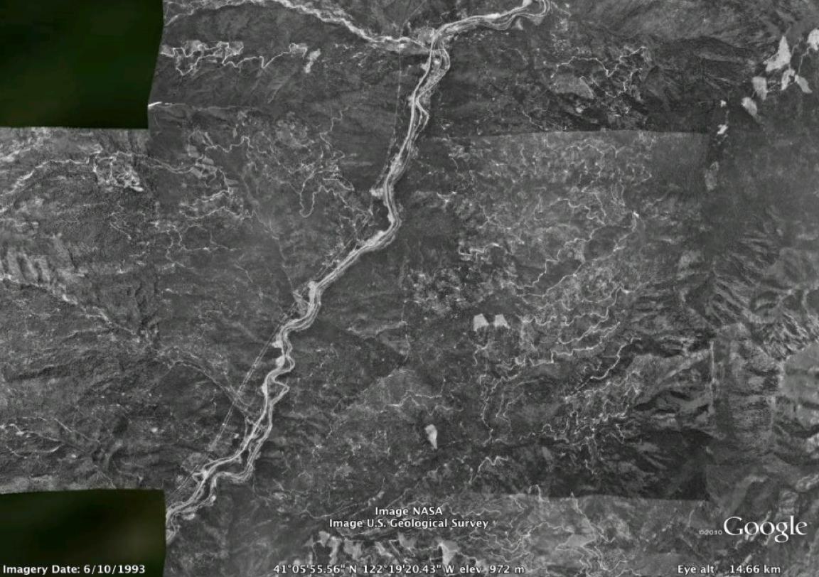 Sacramento Canyon 1993 (air photo via Google Maps)