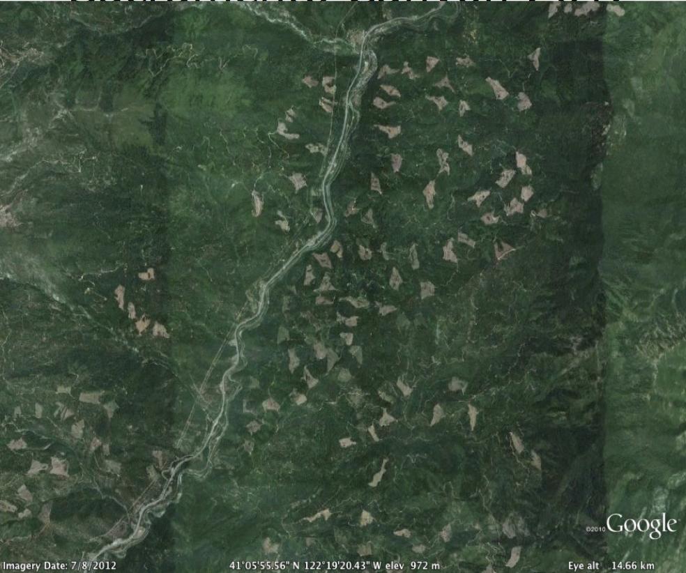 Sacramento Canyon 2012(air photo via Google Maps)