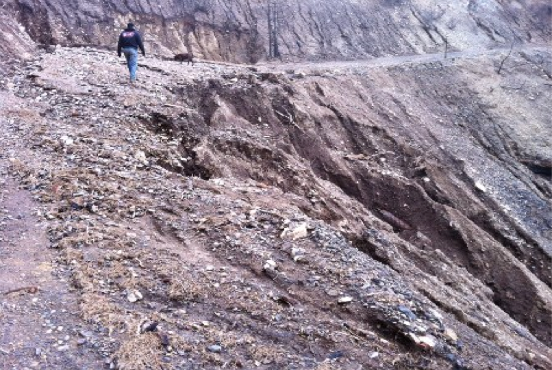 Bagley Fire post-storm road erosion -US Forest Service photo