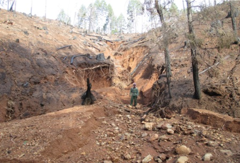 Bagley Fire area post-storm erosion -US Forest Service photo