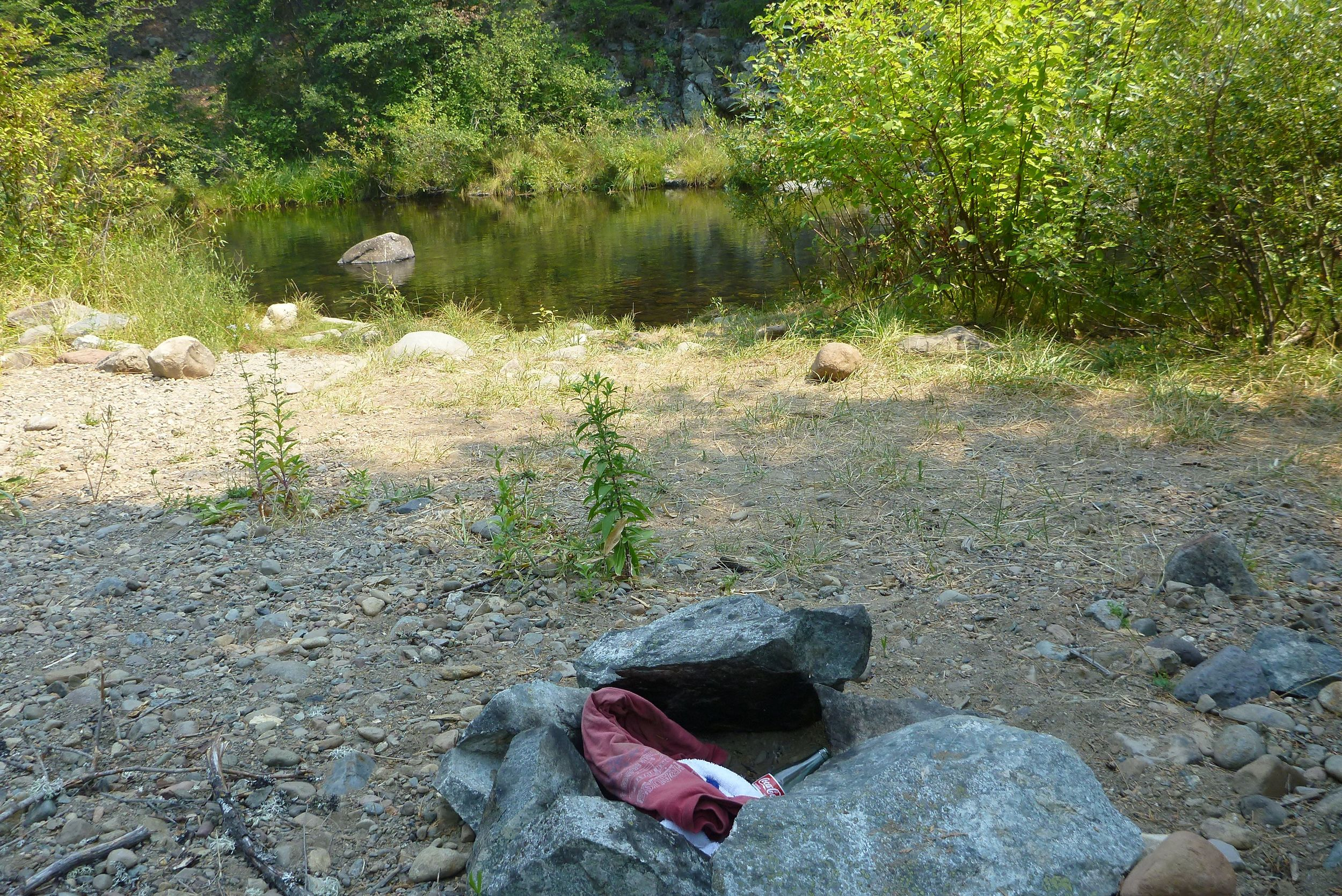 Trash found near Ney Springs on the Upper Sacramento River
