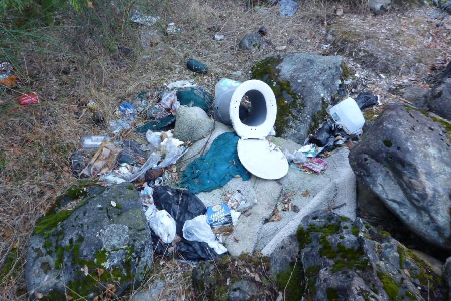 An abandoned campsite near the Sacramento River