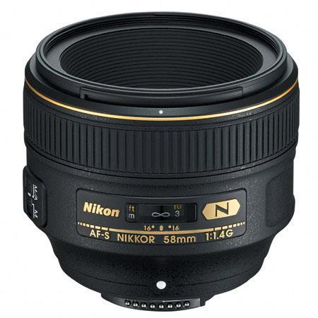Nikon 58mm f/1.4G Nikkor Lens