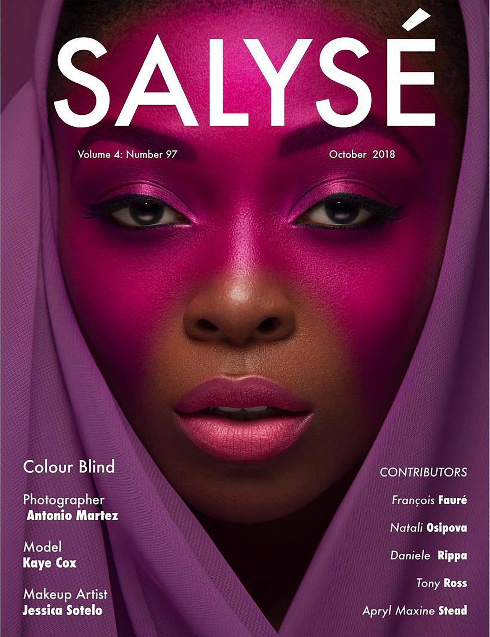Salysé Magazine - October 2018 Cover by Antonio Martez
