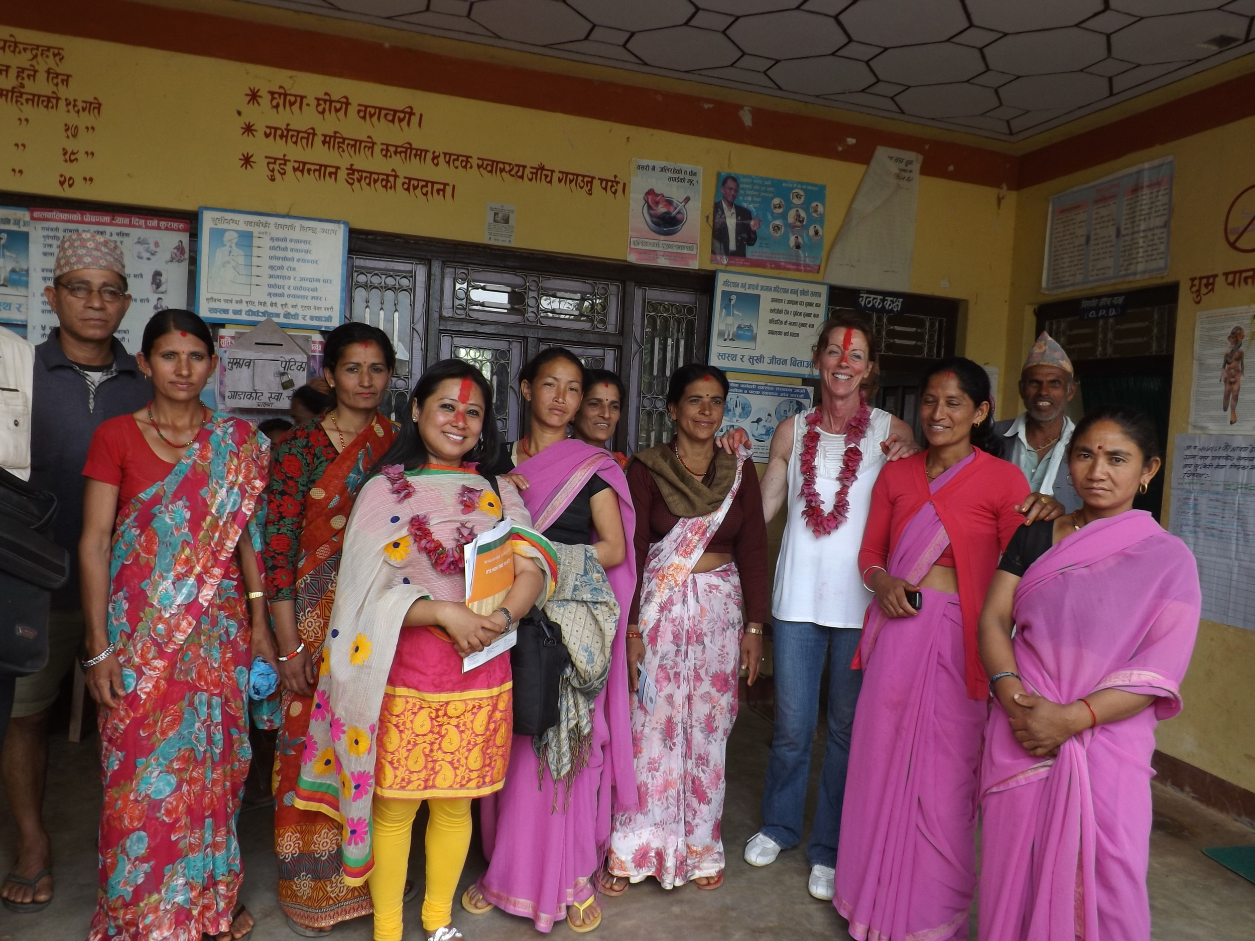 Deepali Thapa & Sherrie Palm at Gadakot VDC Health Post.