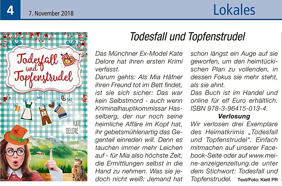 Der Beitrag mit Verlosung. Motiv: ©  Intelligenzblatt Dorfen , 2018