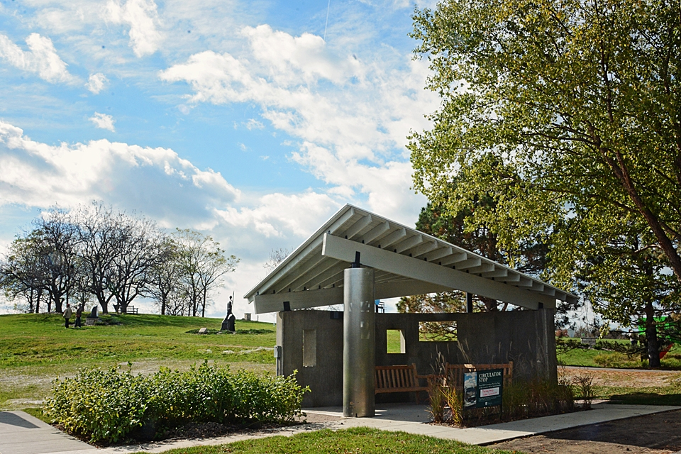 Harrison Sculpture Garden Rest Stop