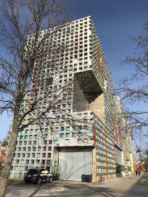 Steven Holl's building on MIT campus