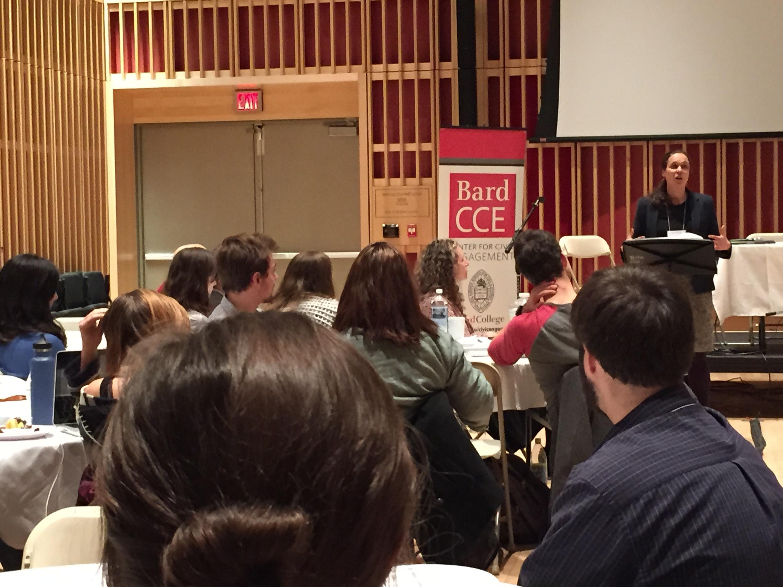 Val Nehez keynote speech at Bard College