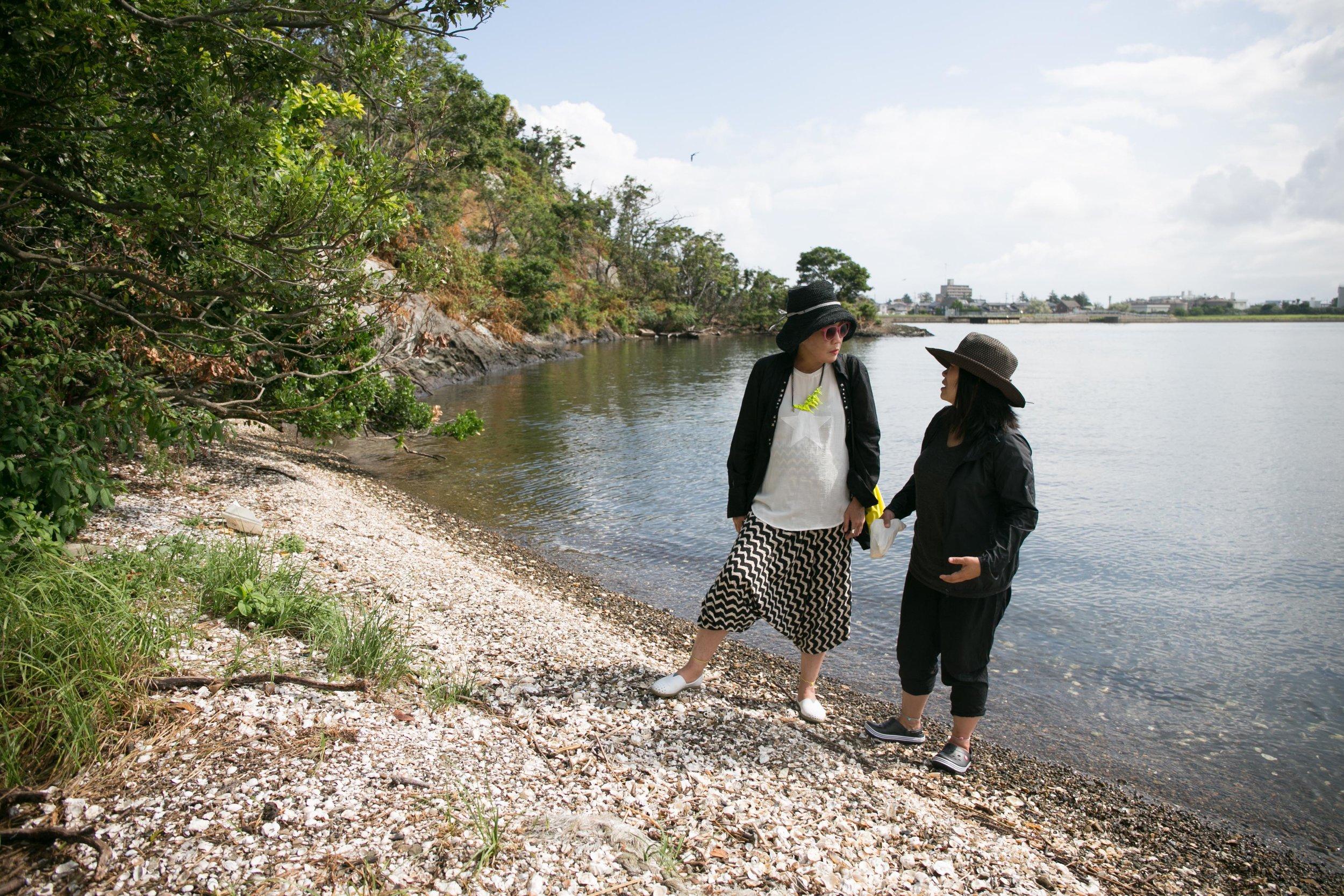 Image courtesy of AIR 475, 2016. Makiko and I on Kayashima Island.