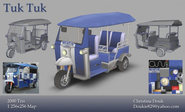 Photo courtesy of Christina Douk: A vehicle from Thailand made using games modeling technique - 2009.