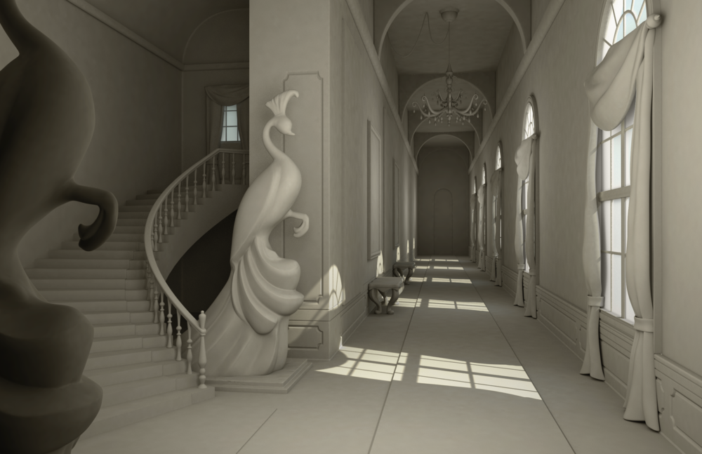 Photo courtesy of Christina Douk: French Hallway Environment made for Eve Skylar from her concept - 2014