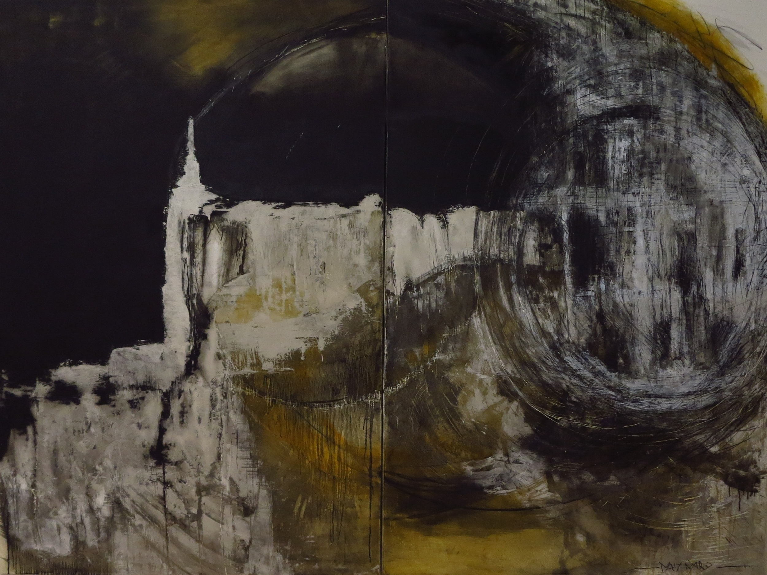 Diptych oil on canvas - size 260 x 200 cm / 102 x 79 inches