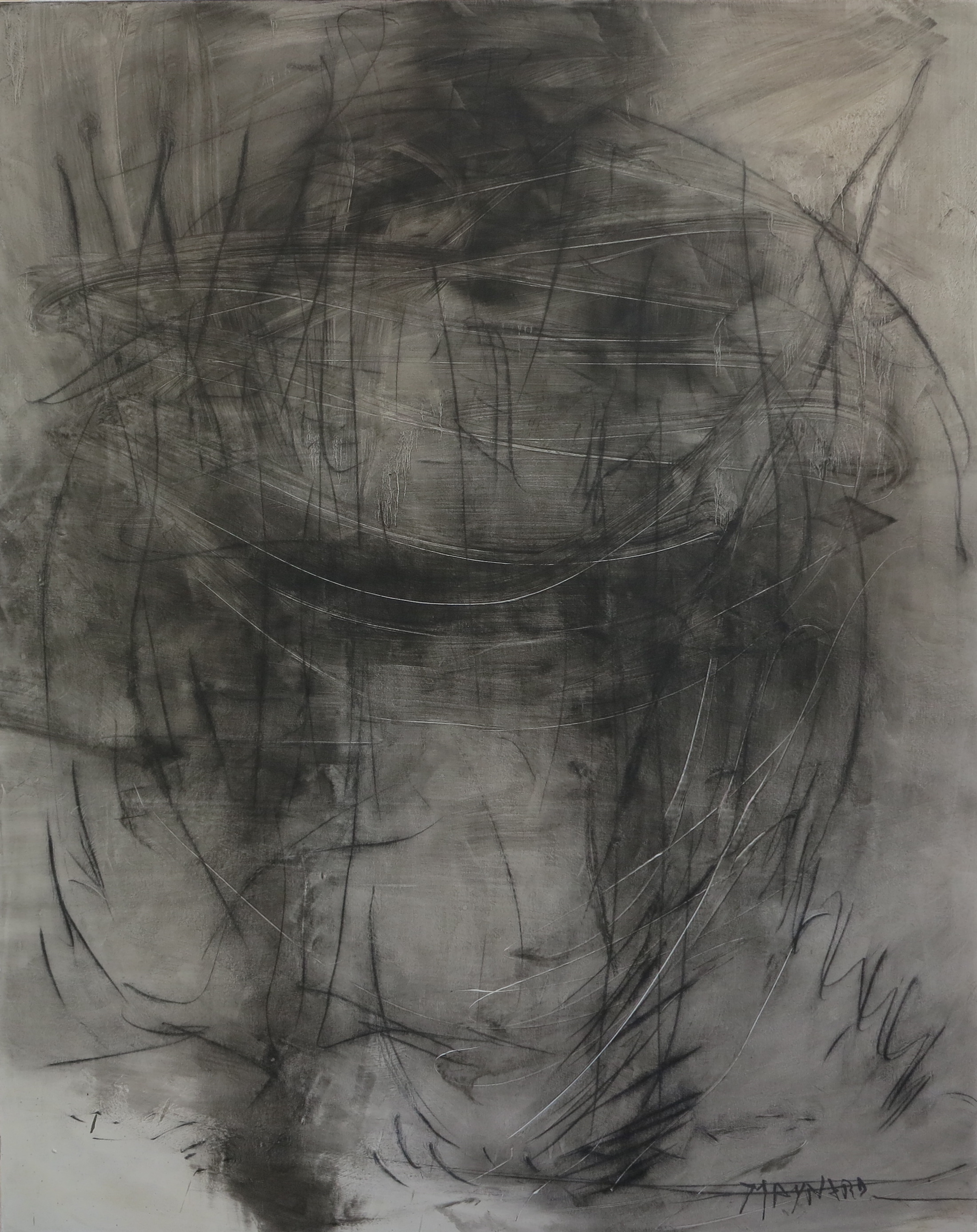 Oil and graphite on canvas - size 130 x 160 cm / 51 x 63 inches