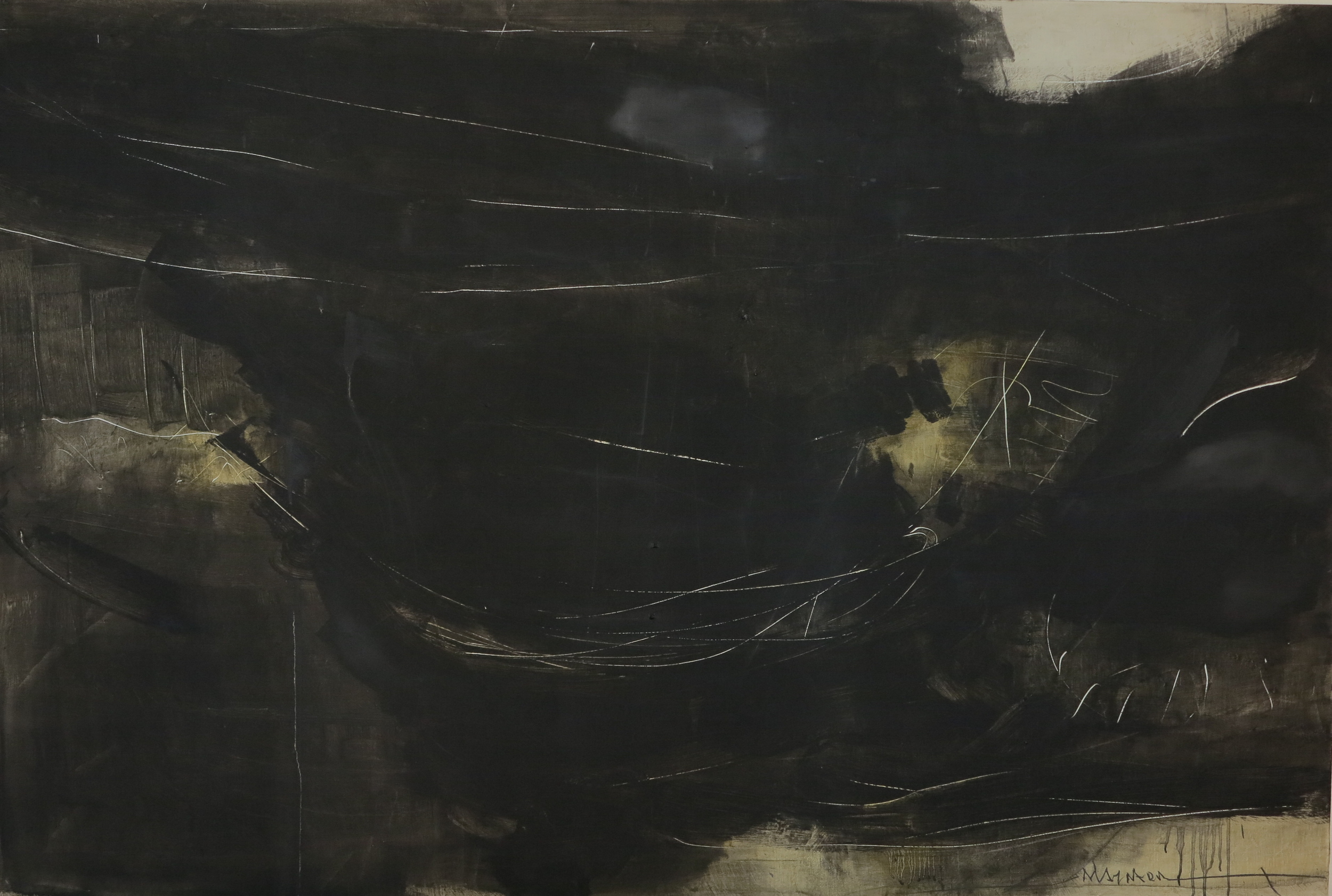 Oil on canvas - size 200 x 130 cm / 79 x 51 inches