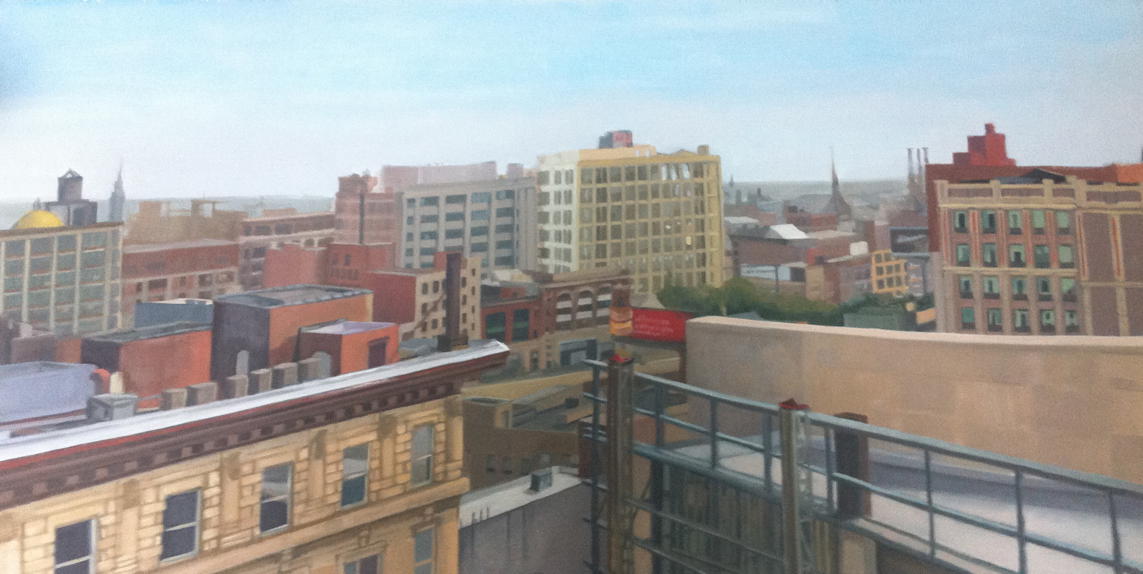 Over Broad and Race by Lisa David, Oil on Board 2010