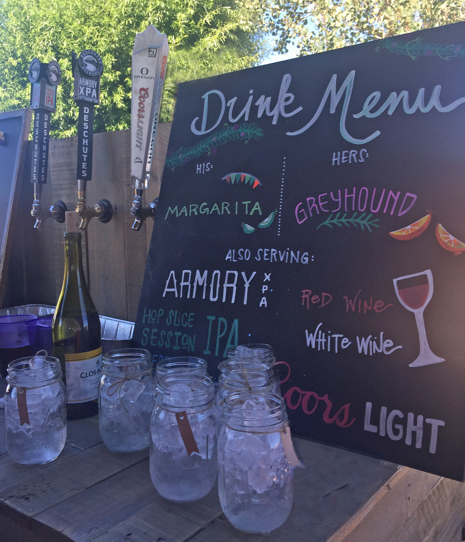 Beer, wine and handcrafted cocktails
