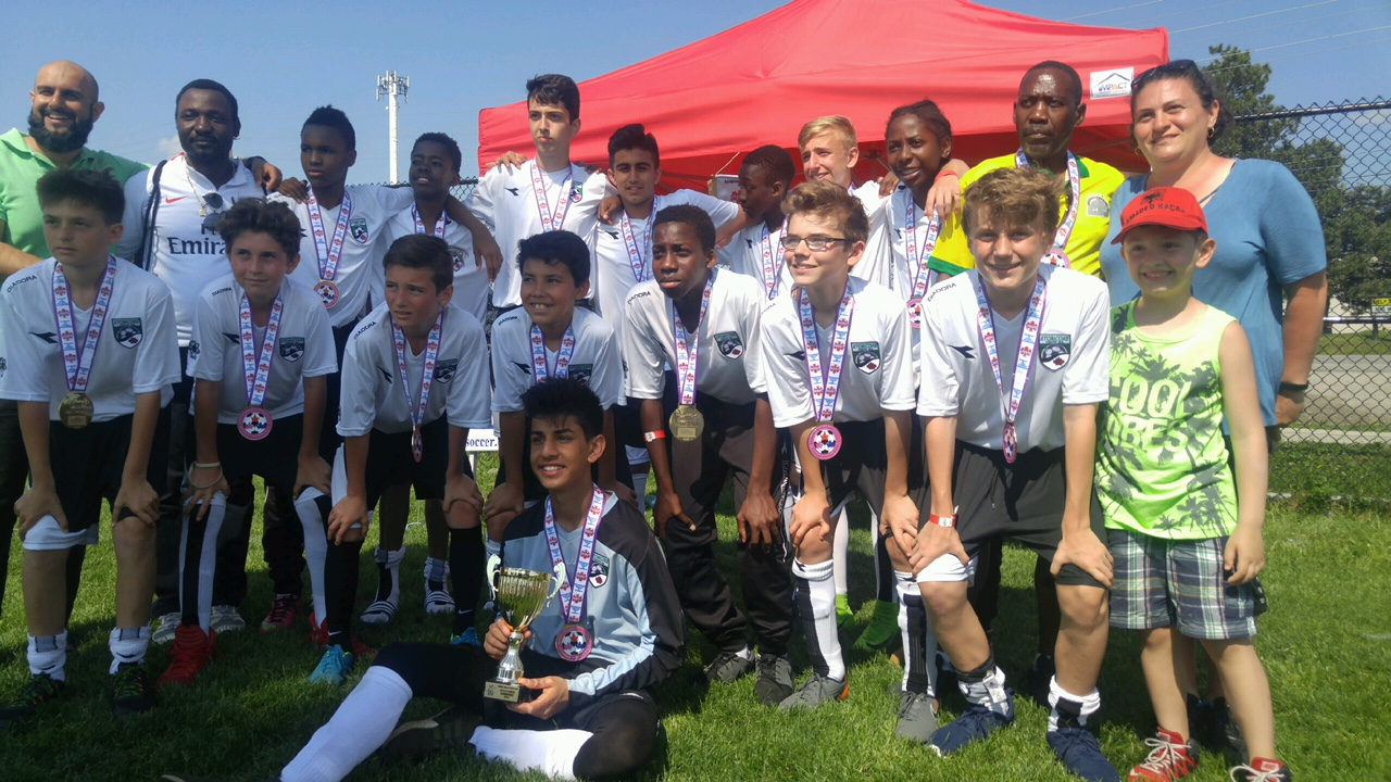 Boys U14 2004 Energy. Congratulations to the Vaughan Tournament Champions May 26/27 2018. Job well done!