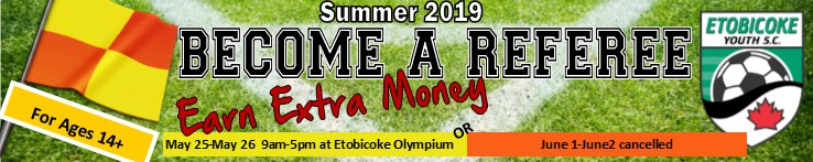 Click on the banner for the registration form. Please complete the form and email it to eysc@bellnet.ca including payment. You can drop by the office if you prefer. 270 Galaxy Blvd. Etobicoke Monday to Thursday 1-9pm; Friday 12-5pm
