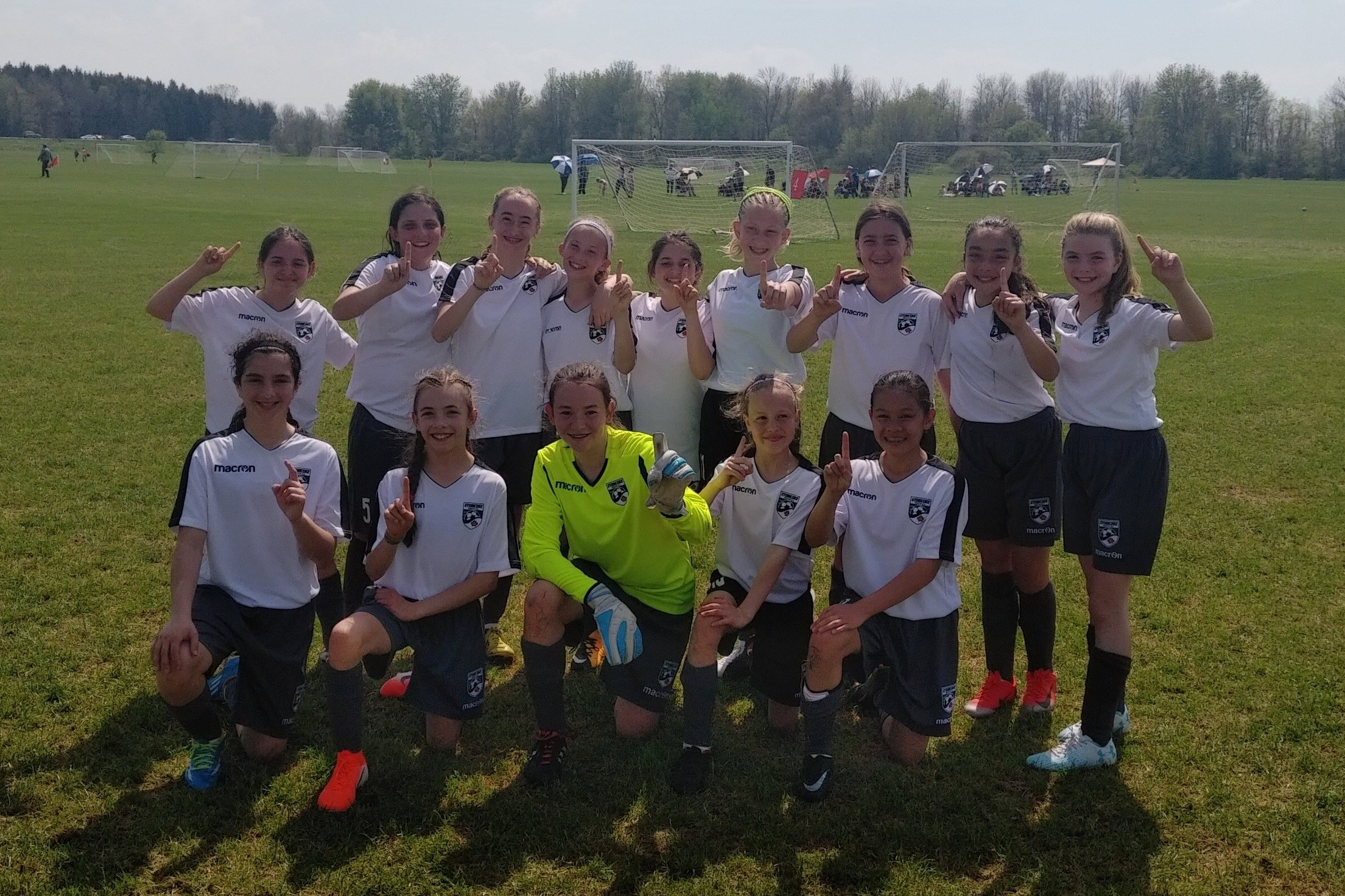 Girls U12 2007 Green Team. May 18th weekend. Congratulations to the team who were Champions at the Empire Cup Spring Classic in the United States. Well done!