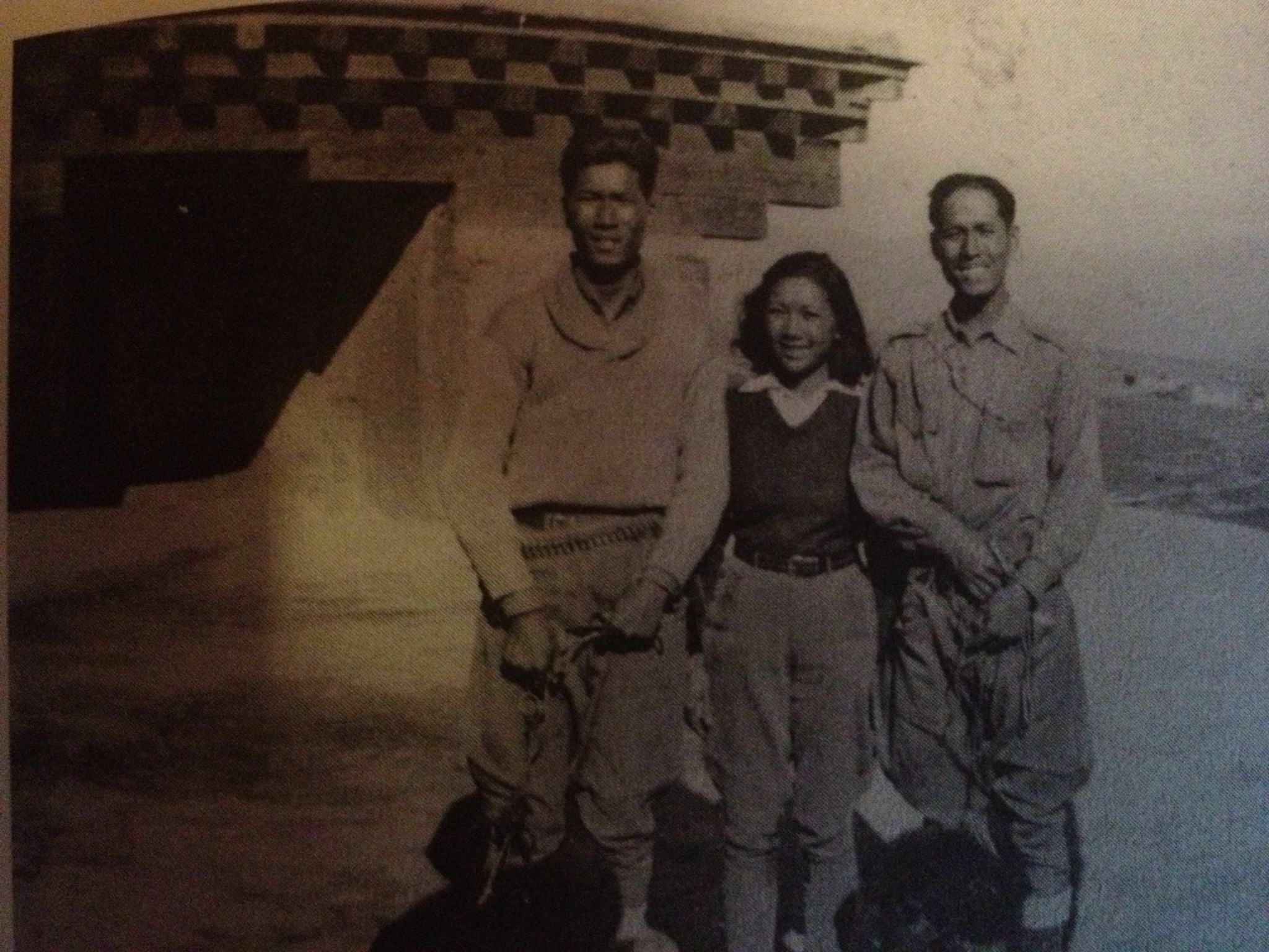 Quentin, Su Lin and Jack Young in Sichuan, 1934.