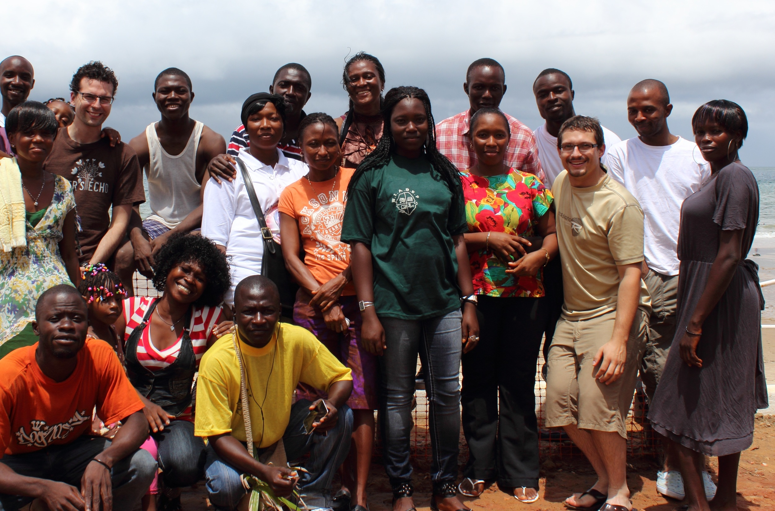 Staff and Students of Women in Action with Esther's Echo Team Members