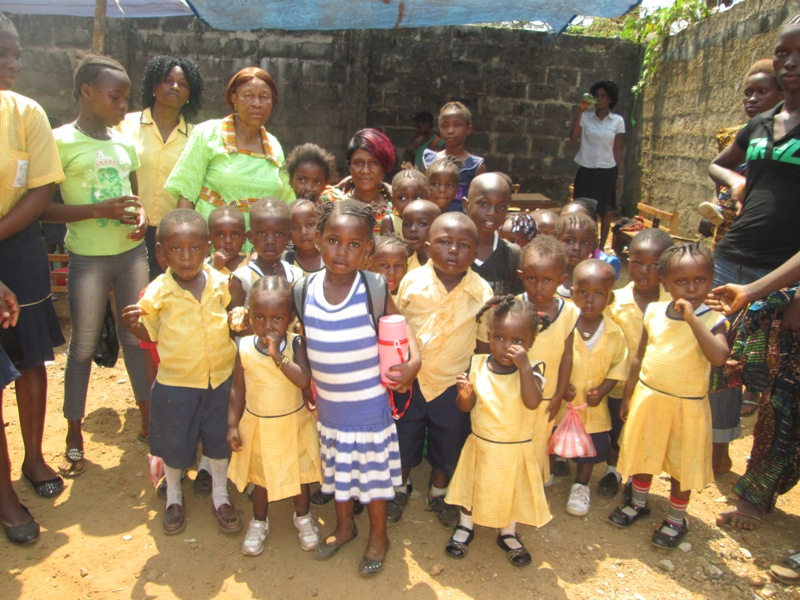 "Children in Esther's ""Kiddies Foundation"" child education program. These children are from a neighbouring slum region of the city that Esther is seeking to empower"