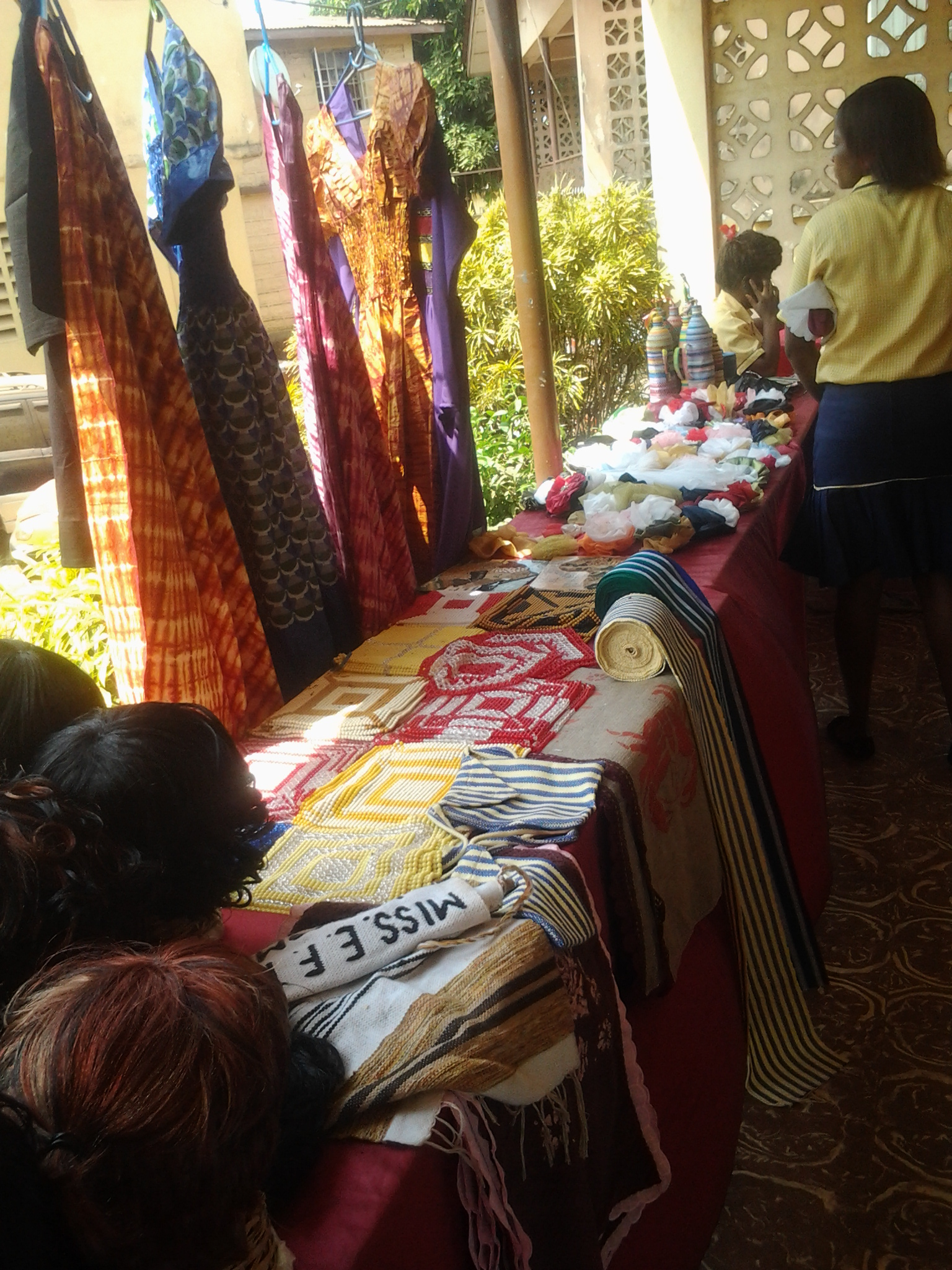 The beautiful batik and handicrafts created by students at the Women in Action Development Project