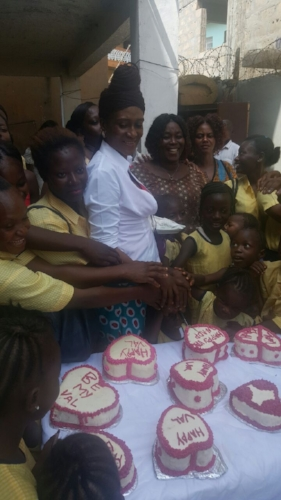 Esther and Students Celebrate Founding Day and Valentines Day