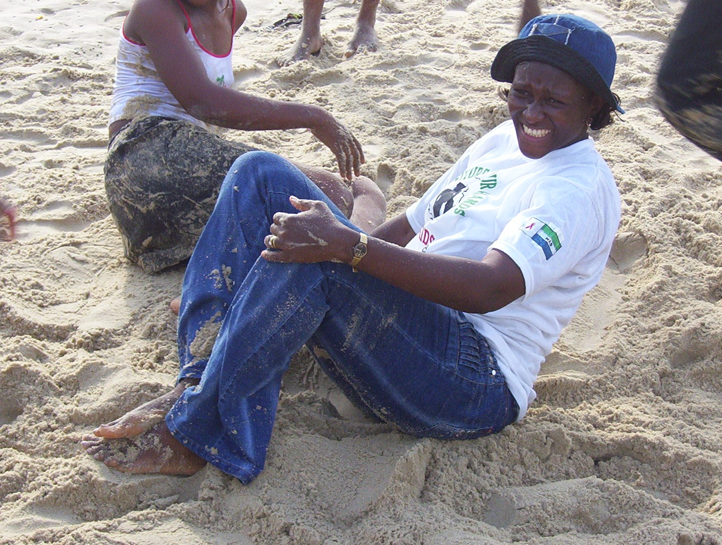 Esther on the Beaches of Sierra Leone