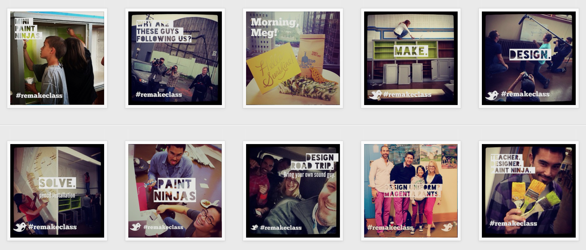 A glimpse into the Instagram campaign after the series aired on Edutopia