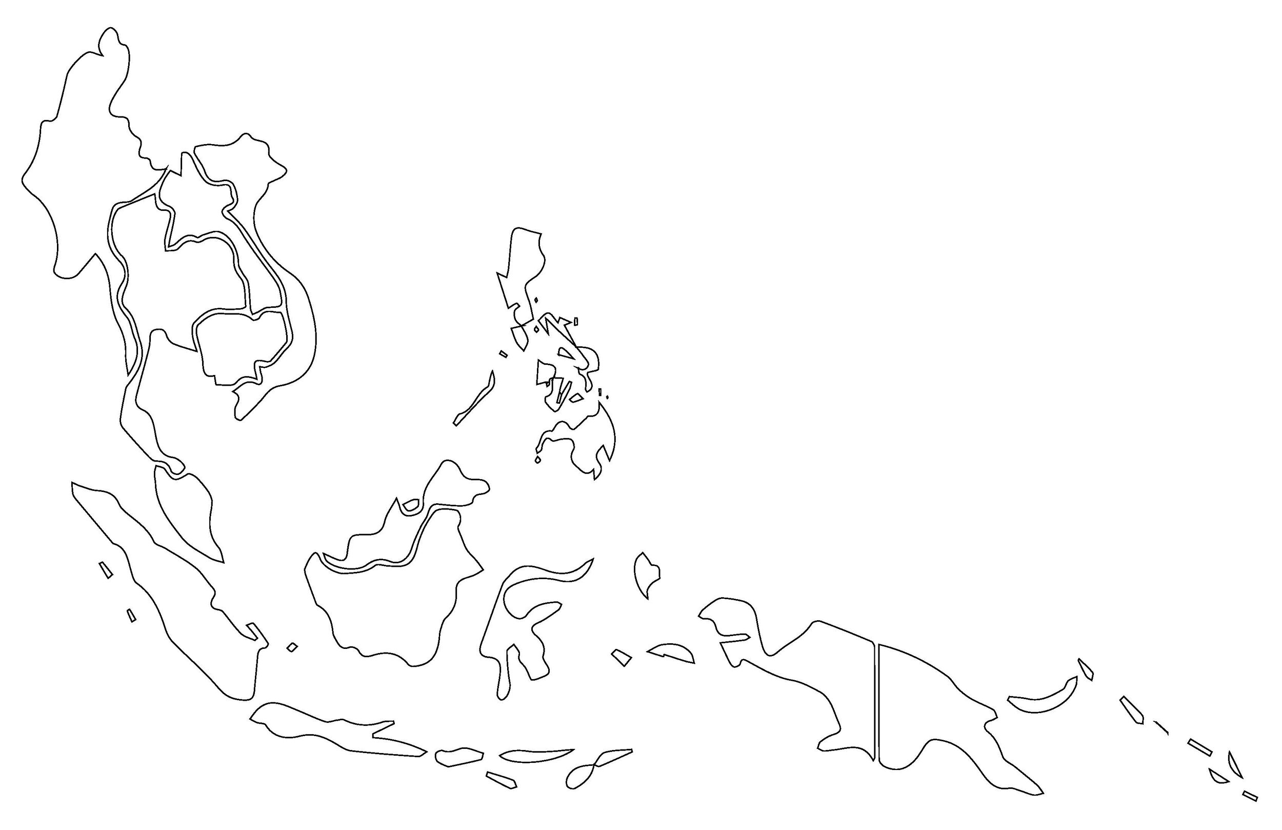 Blank Southeast Asia Map Blank Southeast Asia Vector Map — Anthony Lovenheim Irwin