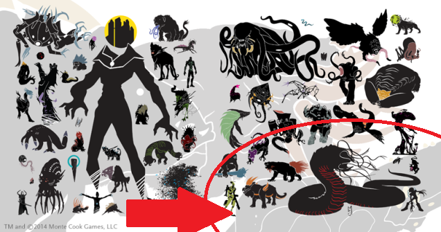 Thank you Bryon Kershaw for this image.  Dread Destroyer is the silhouette circled.