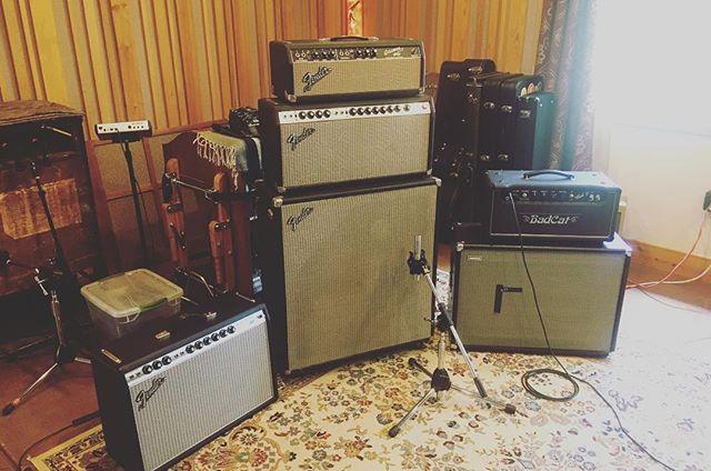 Getting lead guitar amp setup ready for Shawn.