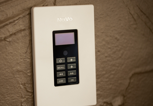 NuVo OLED Keypad For House Audio Control