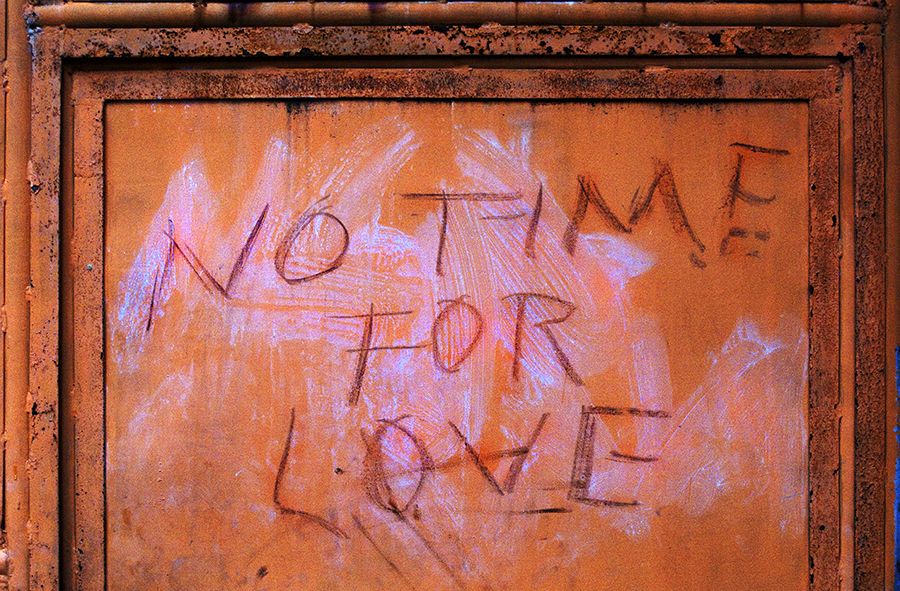 "Day 1/50  : ""No Time For Love"" sounds like the title for a blues song."