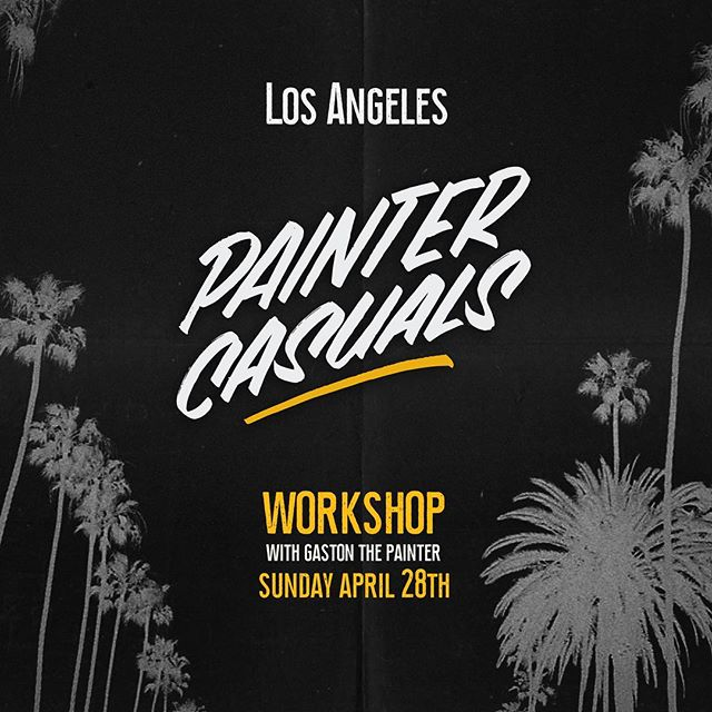 L.A! 💫 My workshop on Sunday is now sold out, 🎫 super excited to meet all these fellow Letter Artists and spend the day geeking out and writing Painter Casuals! 👨‍🎨 Any suggestions for things to see or do that weekend? Give me a shout and let's link up! Xx — G. . . . . . . . . #lettering #signpainting #losangeles #la #california #handstyle #handlettering #brushlettering #workshop #casuals #paintercasuals #brush #paint #alwayshandpaint #calligraphy #typography #type #letters #signs #hustle #yolo #cali #learn #gastonthepainter #handpainted #supportyourlocalsignpainter
