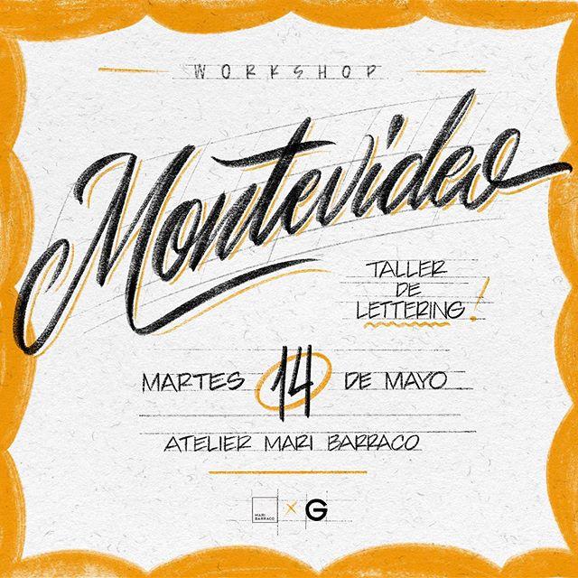 🌞 Montevideo! 🇺🇾 Este Martes 14 voy a estar en @atelier.maribarraco enseñando varios piques y estilos del Lettering! ✍️ Venite a aprender a emprolijar la letra y manejar varias herramientas! 👨🎨 Son pocos los cupos, interesados contactarse por aquí o con @maribarrako.art 🎫 Desde 18:30 a 10pm 💥 Nos vemos ahí a escribir hasta que nos quedemos sin lápiz! 😜 xx — G. . . . . . . . . . . . #lettering #workshop #taller #typography #handlettering #brushscript #script #casuals #typelettering #signs #handstyle #learn #teacher #hustle #yolo #blessed #calligraphy #type #letters #letteringdesign #flyerdesign #flyer