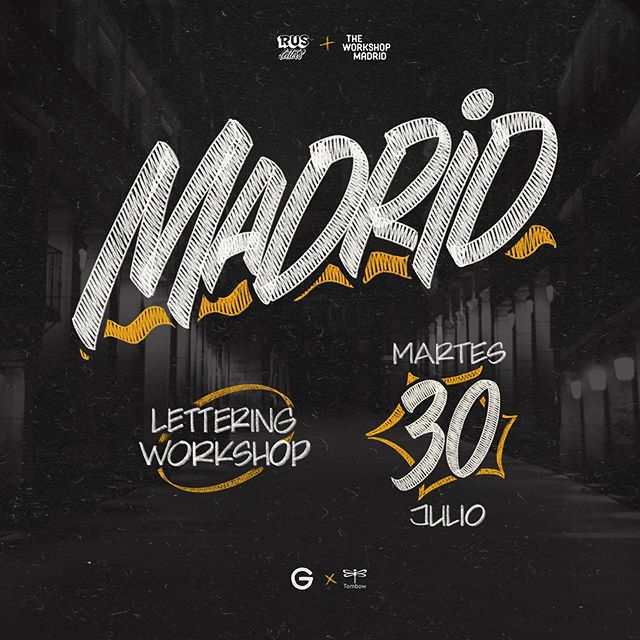 Olé! 🇪🇸 What a joy to say I'll be back in España. First stop in my Europe tour is through Madrid, teaching a Casuals Lettering workshop - in between all the tapas 🥖 and cañas 🍺 I'll be having! Come join me for one evening of heavy lettering where you will learn to develop two unique styles ‼️ and hang with some the best letter artists around. 👨‍🎨 Special thanks to @rus_letters and @theworkshopmadrid for organizing and hosting the workshop 🥇and @tombow.spain for supplying the best markers around for the job. ✍️ Tickets in Bio or DM! 🎫 Can't wait! Hasta la vista, Xx — G. . . . . . . . . . . . . . . . #lettering #madrid #calligraphy #caligrafia #letras #tipografia #type #typography #workshop #diy #handlettering #rotulista #letrista #letters #handstyle #casuals #casual #signpainting #signwriting #alwayshandpaint #supportyourlocalsignpainter #gastonthepainter #paint #brush #brushlettering #paintercasuals #architectcasuals