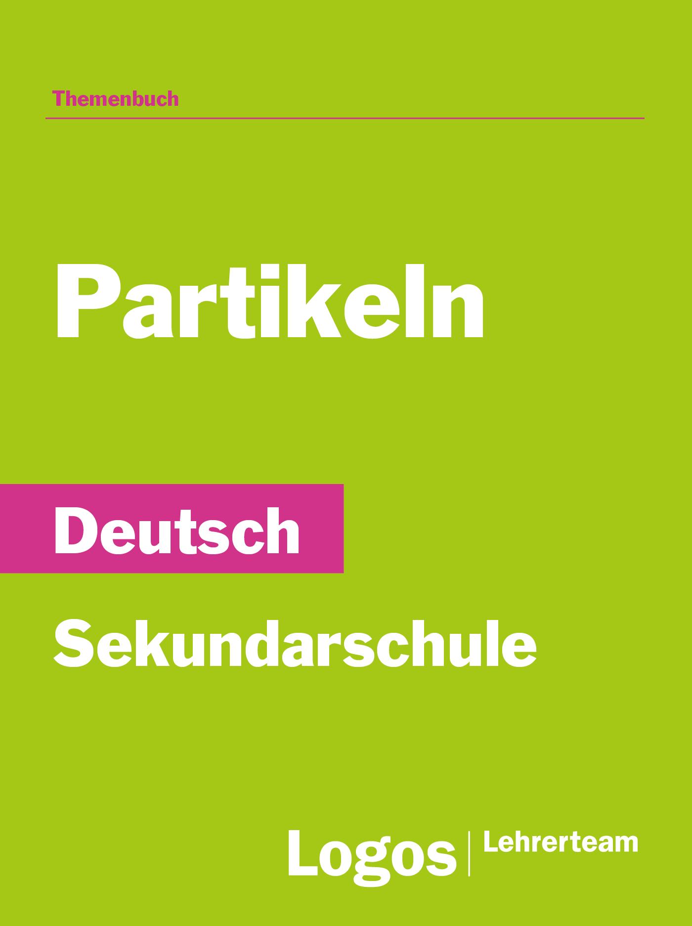 Deutsch Partikeln - Sekundar