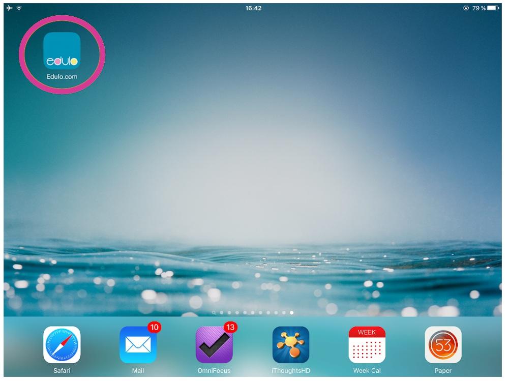 1. edulo-App öffnen