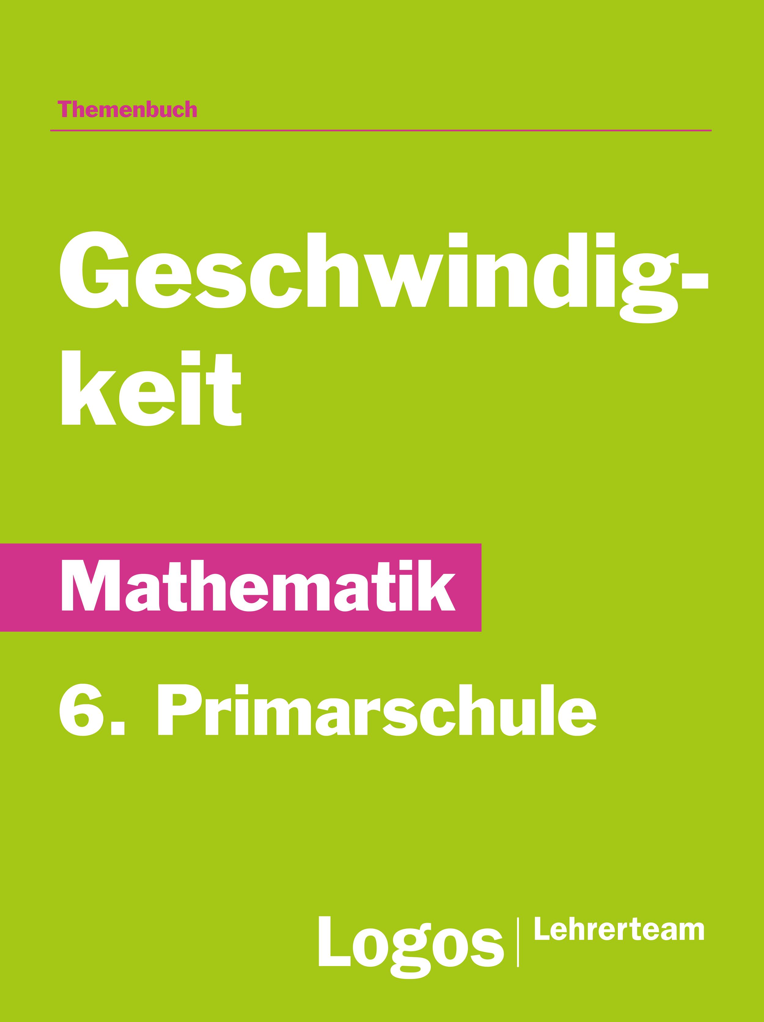Mathematik Geschwindigkeit - Primar