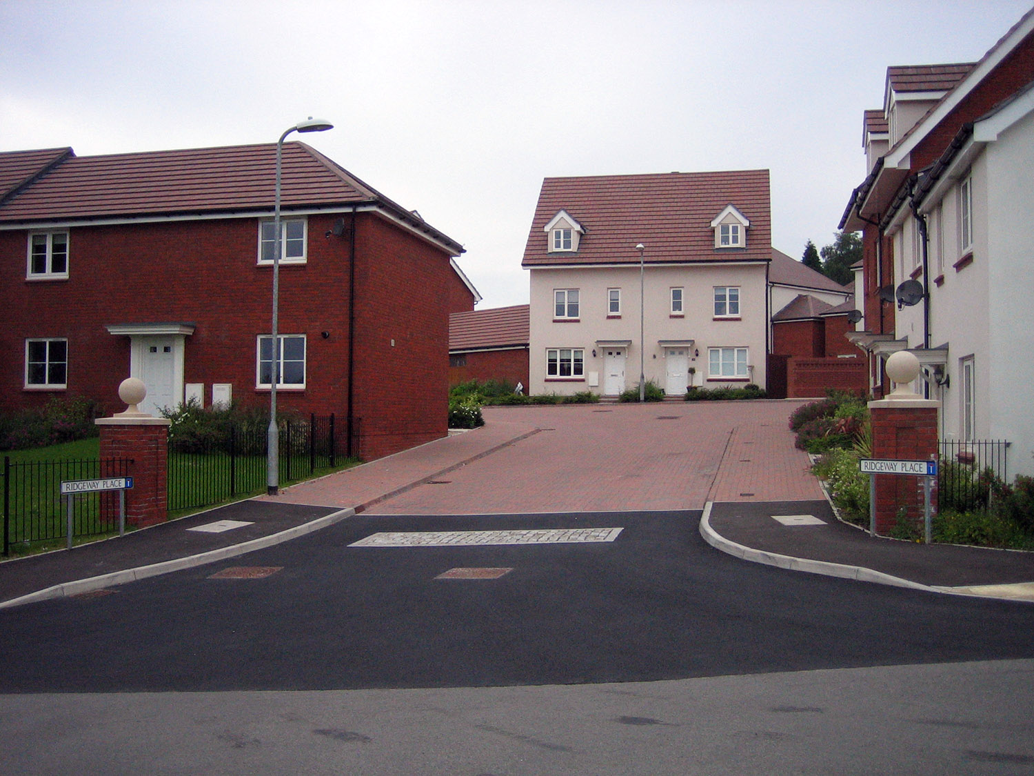 New housing is often found in estates on the outskirts