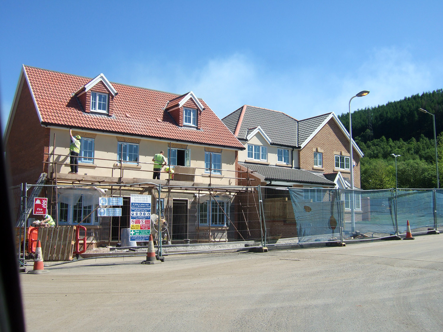 New homes are often found on the outskirts of towns