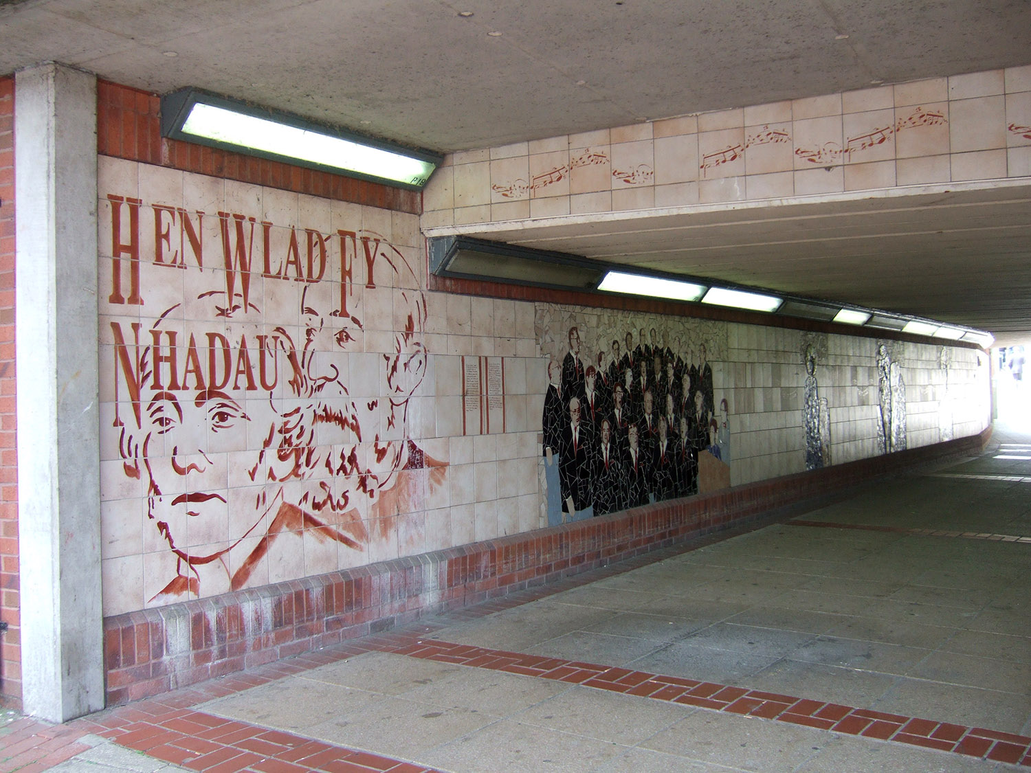 Art and graphics can help to make alleys, walkways and underpasses feel safe